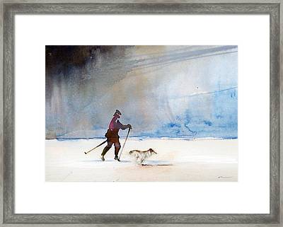 Framed Print featuring the painting Uvea And Da by Ed  Heaton