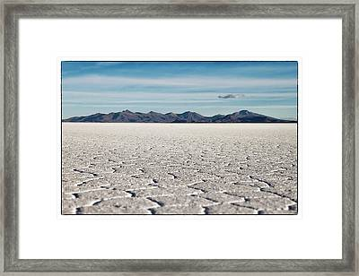 Uyuni Salt Falt Pattern  Select Focus Framed Print by For Ninety One Days