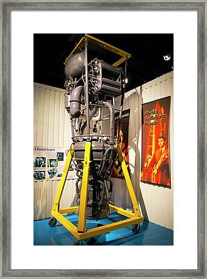 V-2 Rocket Engine. Framed Print by Mark Williamson