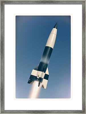 V-2 Rocket Launch, Artwork Framed Print