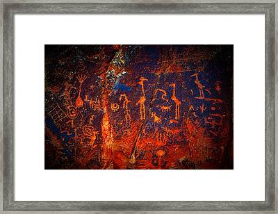 V-bar-v Petroglyphs Framed Print