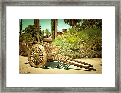 Wooden Hand Cart  Framed Print by Barbara Snyder