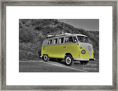 V-dub In Yellow  Framed Print