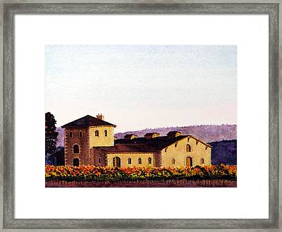 V. Sattui Winery Framed Print
