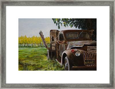 V Satuii Napa Valley Framed Print by Wyn Ericson