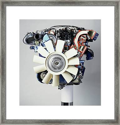 V12 Petrol Engine Framed Print