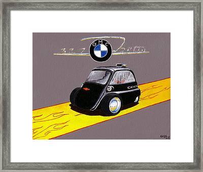 V8 Bubble Car Framed Print by Guy Pettingell