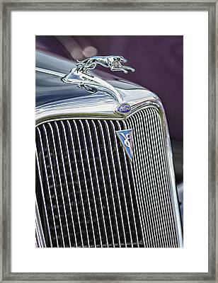 V8 Fast Framed Print by Betty Depee