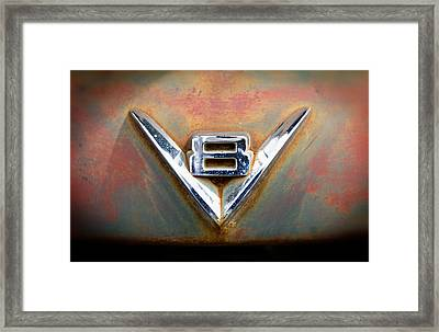 V8 Ford Framed Print