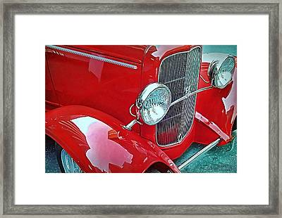 Framed Print featuring the photograph V8 by Victor Montgomery
