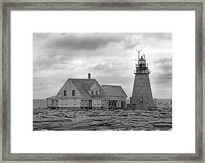 Vacant On The Ocean Framed Print by Betsy Knapp