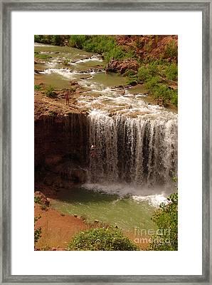 Vacation At Lower Navajo Falls Framed Print