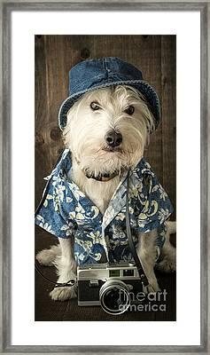 Vacation Dog Phone Case Framed Print