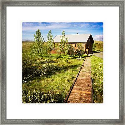 Vacation Home In South Iceland Framed Print
