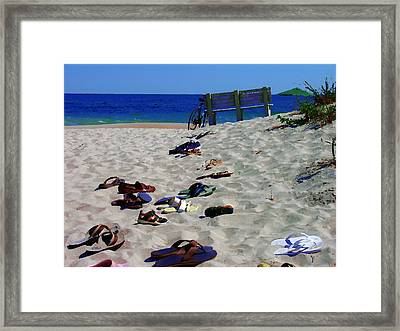 Vacation In The Hamptons Ny Framed Print by Jacqueline M Lewis