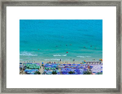 Vacation On The Beach Framed Print by Niphon Chanthana