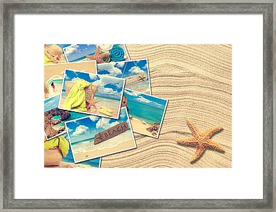 Vacation Postcards Framed Print by Amanda Elwell