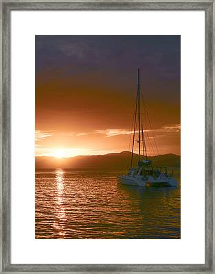 Vacation Sunset Framed Print by    Michael Glenn