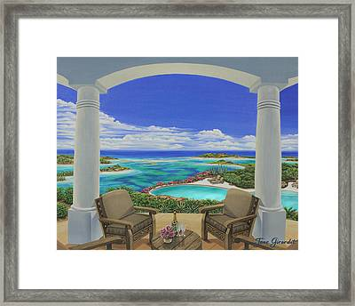 Framed Print featuring the painting Vacation View by Jane Girardot