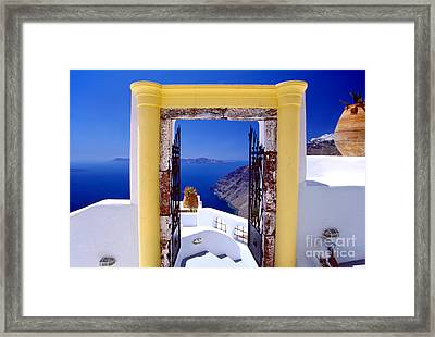 Vacations Gate Framed Print
