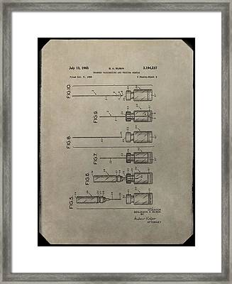 Vaccinating Needle Patent Framed Print by Dan Sproul