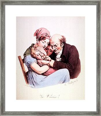 Vaccination Framed Print by National Library Of Medicine