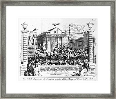 Vaccination Satire, 1857 Framed Print