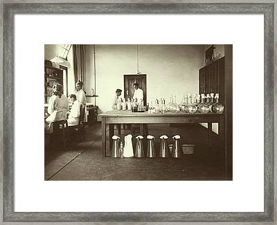 Vaccine Research Framed Print