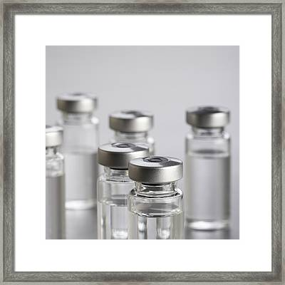Vaccine Vials Framed Print by Science Photo Library