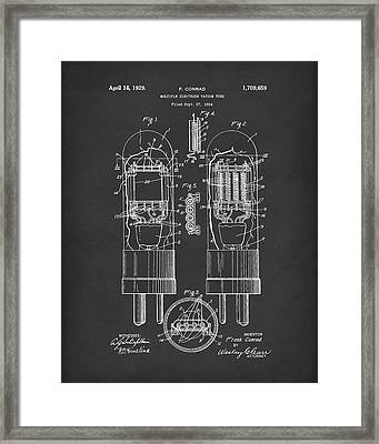 Vacuum Tube 1929 Patent Art Black Framed Print