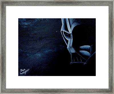 Vader Galaxy Framed Print