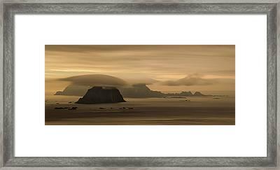 Vaeroy Islands At Cloudy Sunset Framed Print