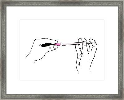 Vaginal Suppository Framed Print by Jeanette Engqvist