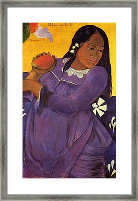 Vahine No Te Vi Framed Print by Paul Gauguin