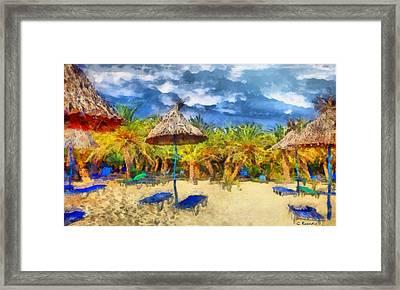 Vai Beach Crete Framed Print by George Rossidis