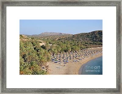 Vai Beach Framed Print