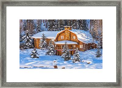 Vail Chalet Framed Print by Darren  White