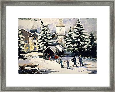 Vail Covered Bridge Framed Print by Patty  Frierson