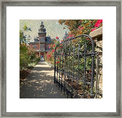 Vaile Landscape And Gate Framed Print by Liane Wright