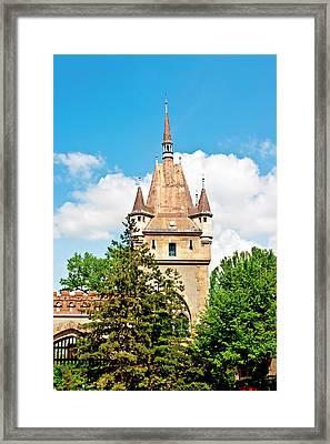 Vajdahunyad Castle In Varosliget (city Framed Print by Miva Stock