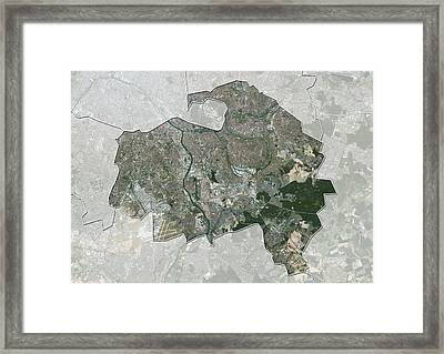 Val-de-marne, France, Satellite Image Framed Print by Science Photo Library