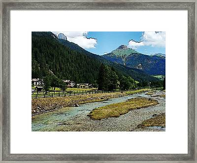 Framed Print featuring the photograph Val Di Fassa by Zinvolle Art