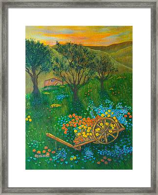 Val D'orcia Framed Print by Pamela Allegretto