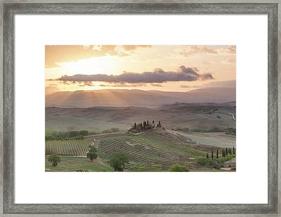 Val D'orcia, Tuscany, Italy Framed Print by Peter Adams
