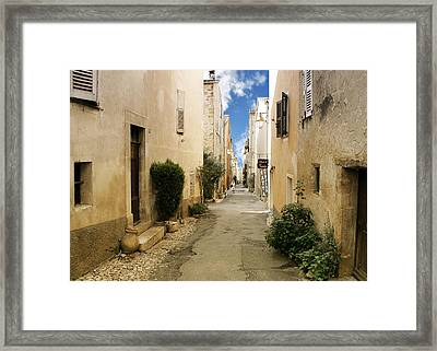 Valbonne - History And Charm  Framed Print by Christine Till