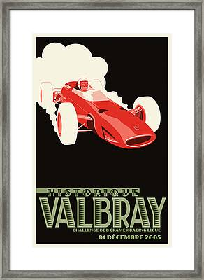 Valbray Historic Grand Prix Framed Print by Georgia Fowler