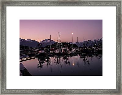 Valdez Alaska Harbor Framed Print by Michael J Bauer