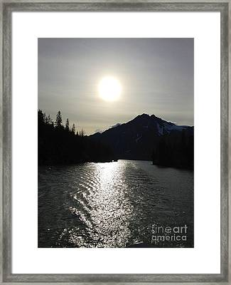 Framed Print featuring the photograph Valdez Water's by J Ferwerda