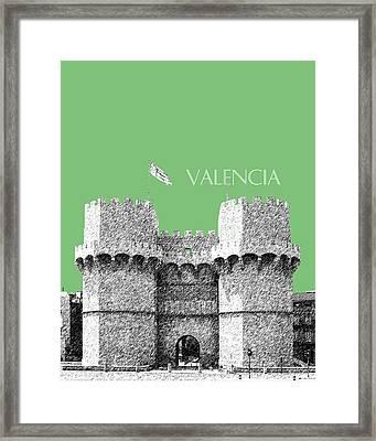 Valencia Skyline Serrano Towers - Apple Framed Print by DB Artist