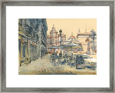 Valencia. View Of The Cathedral Framed Print